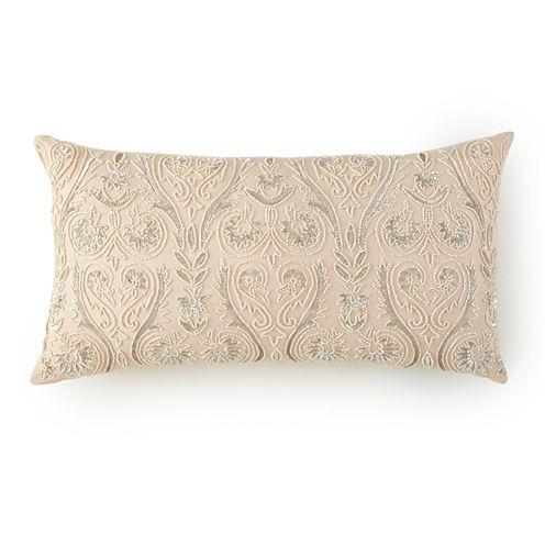 Alexandria Oblong Beaded Decorative Pillow