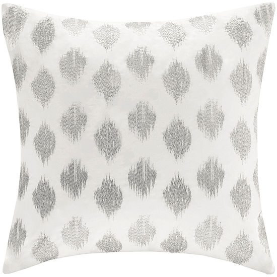 Inkivy Nadia Dot Square Embroidered Decorative Pillow