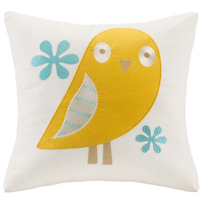 INK+IVY Kids Agatha Square Embroidered Decorative Pillow
