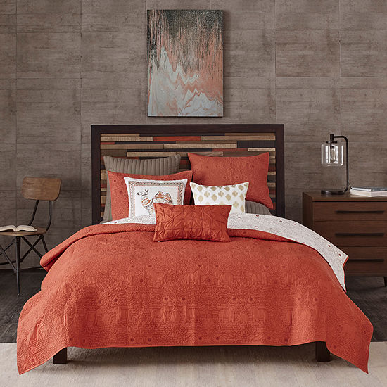 INK+IVY Reversible Kandula 3-pc. Coverlet Set