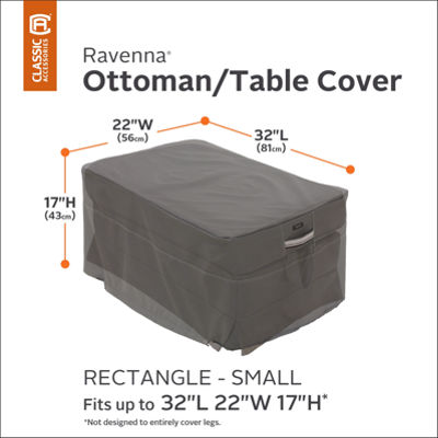 Classic Accessories® Ravenna Small Rectangular Ottoman Side Table Cover