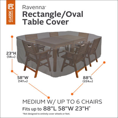 Classic Accessories® Ravenna Medium Rectangular/Oval Table Cover