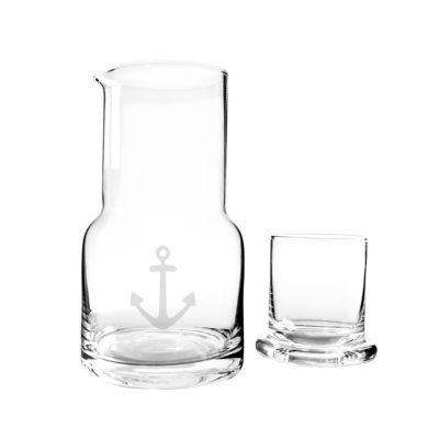 Cathy's Concepts 2-pc. 28-oz. Anchor Bedside Water Carafe & Glass Set