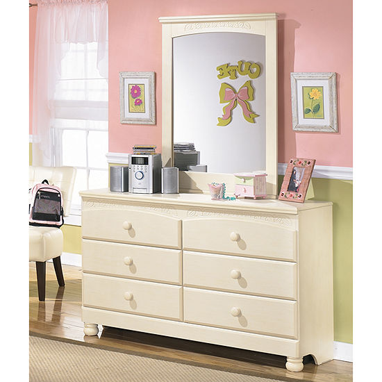 ashley retreat set com bedroom dp in cottage cream amazon bookcase wood full piece