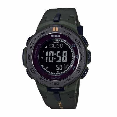 Casio Pro Trek Mens Green Strap Watch-Prw3100y-3