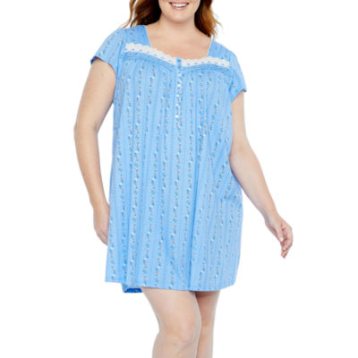 Adonna Short Sleeve Nightgown-Plus