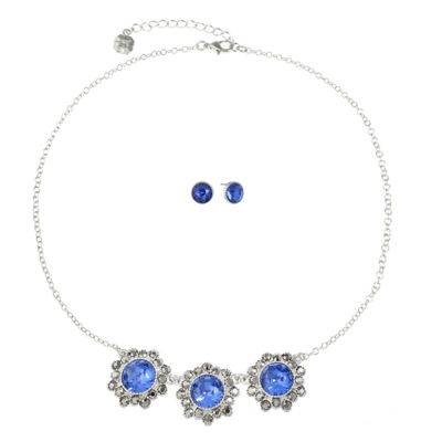 Monet Jewelry Womens 2-pc. Blue Jewelry Set
