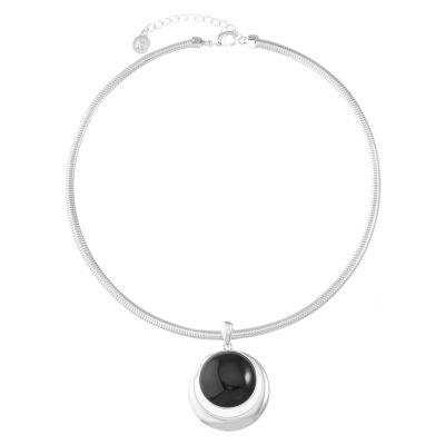 Liz Claiborne Womens Black Pendant Necklace