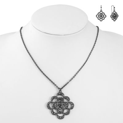Liz Claiborne Womens 2-pack Gray Jewelry Set