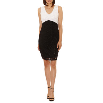 Blu Sage Sleeveless Sheath Dress-Petite