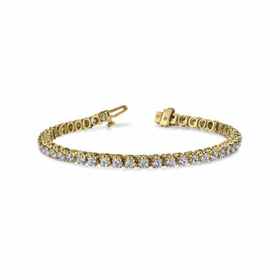 Womens 7 CT. T.W. White Diamond 14K Gold Tennis Bracelet
