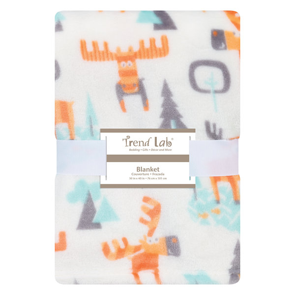 Trend Lab Woodland Moose Receiving Blanket