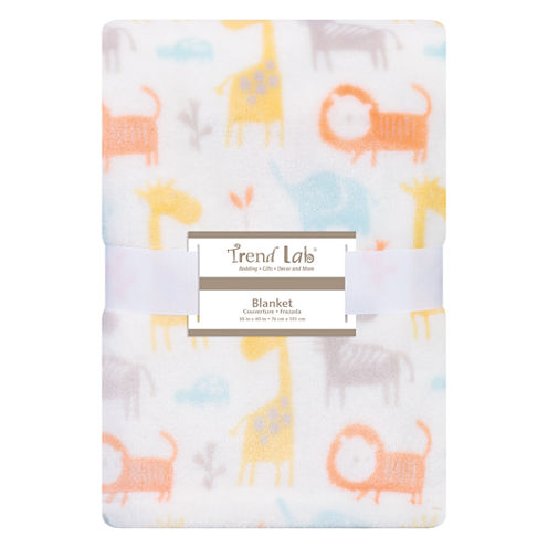Trend Lab Crayon Jungle Receiving Blanket