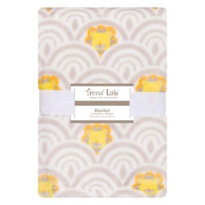 Trend Lab Art Deco Lions Receiving Blanket