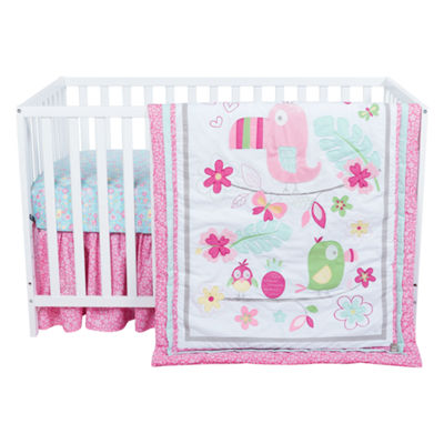 Trend Lab Tropical Tweets 3-pc. Crib Bedding Set