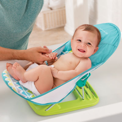 Summer Infant Inc. Duluxe Baby Bather Triangles Stripes Baby Bath Tub