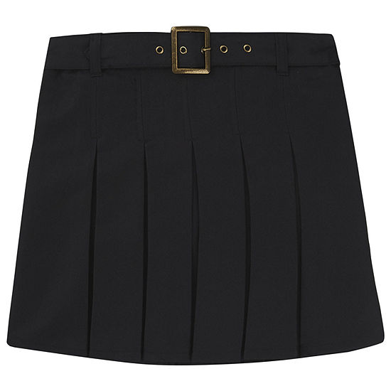 French Toast Girls Belted Short Scooter Skirt