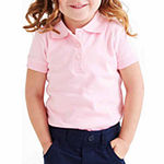 French Toast Big Girls Short Sleeve Polo Shirt