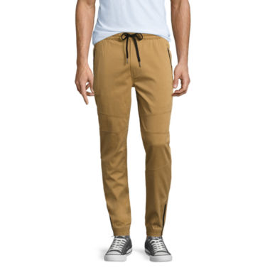 These boys' twill jogger pants by Jumping Beans mix and match with all his tops.