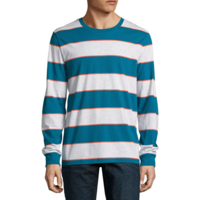 Arizona Long Sleeve Stripe Crew Neck T-Shirt