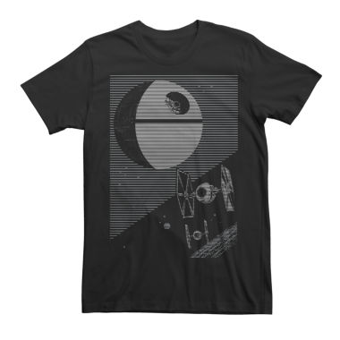 Short Sleeve Star Wars Tv + Movies TIE Fighters Rubber  Tex  Graphic T-Shirt