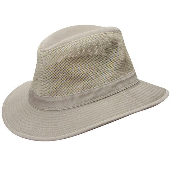 Dorfman Pacific® Washed Twill Mesh Safari Hat
