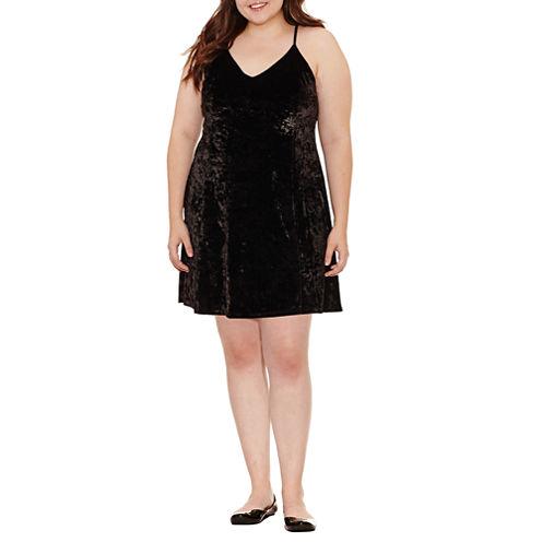 Arizona Sleeveless Slip Dress-Juniors Plus