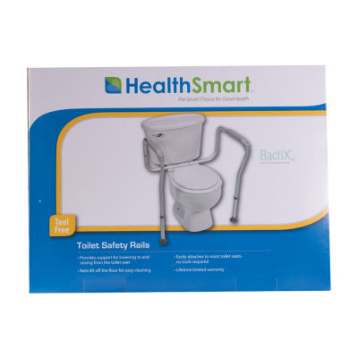 HealthSmart Adjustable Germ-Free Toilet Rails Safety Arms