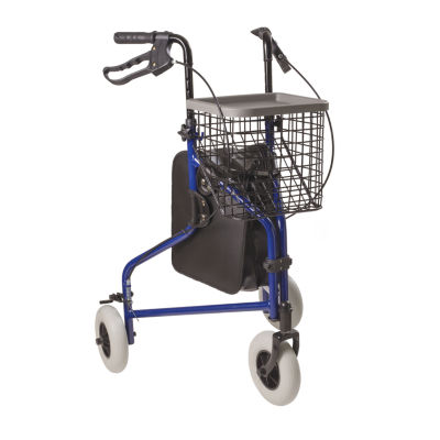DMI 3-Wheel Folding Aluminum Rollator Walker