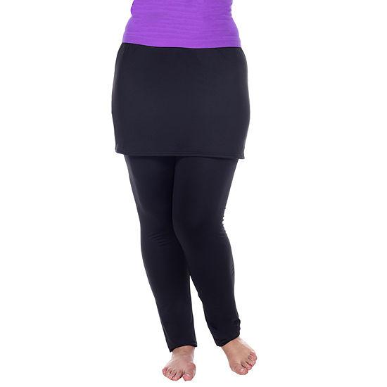 White Mark-Plus Skirted Womens Legging
