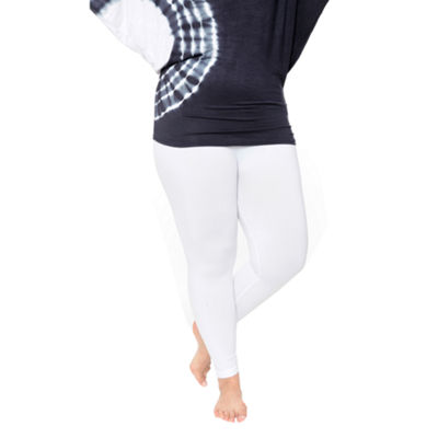 White Mark Super Stretch Knit Leggings-Plus