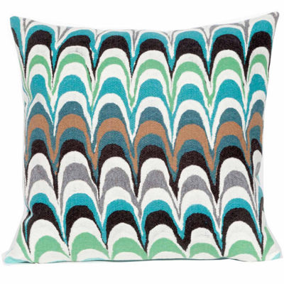Liora Manne Visions Iii Floating Ink Square Outdoor Pillow