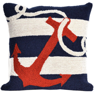 Liora Manne Frontporch Anchor Square Outdoor Pillow