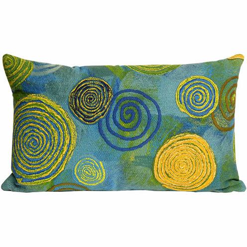 Liora Manne Visions Iii Graffiti Swirl Rectangular Outdoor Pillow