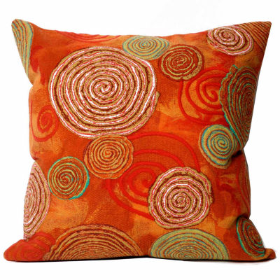Liora Manne Visions Iii Graffiti Swirl Square Outdoor Pillow
