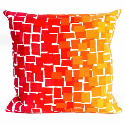Liora Manne Visions Ii Ombre Tile Square Outdoor Pillow