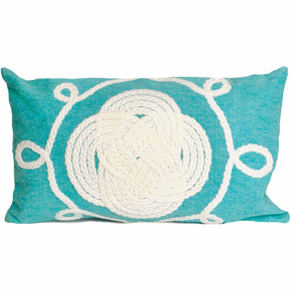 Liora Manne Visions Ii Ornamental Knot Rectangular Outdoor Pillow
