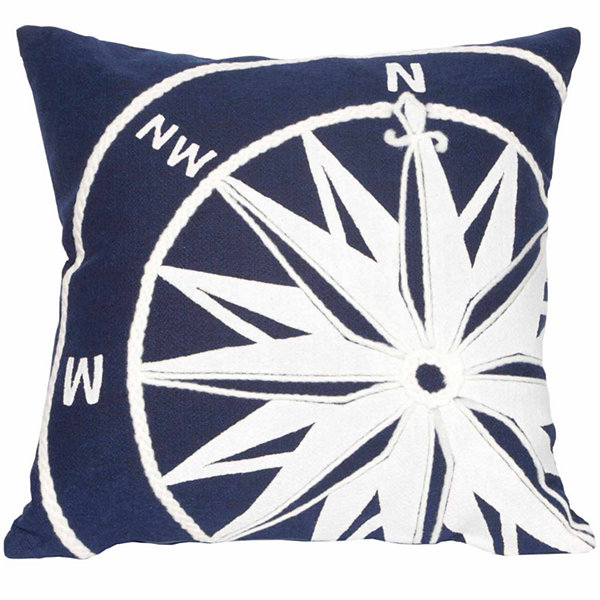 Liora Manne Visions Ii Compass Square Outdoor Pillow