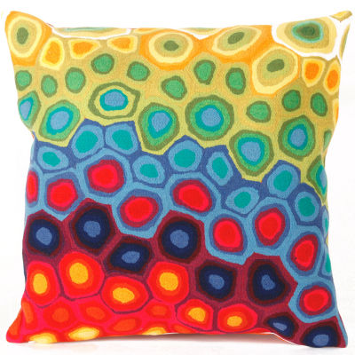 Liora Manne Visions Iii Pop Swirl Square Outdoor Pillow