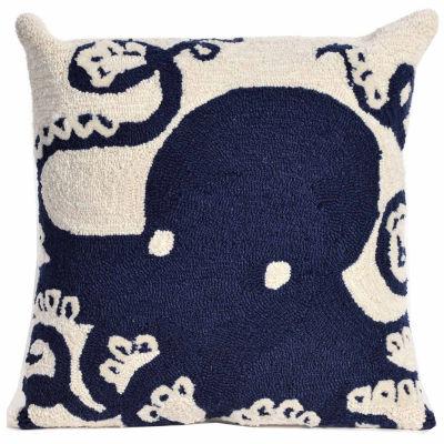 Liora Manne Frontporch Octopus Square Outdoor Pillow