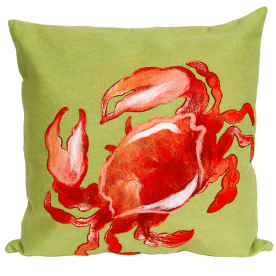 Liora Manne Visions Ii Crab Square Outdoor Pillow
