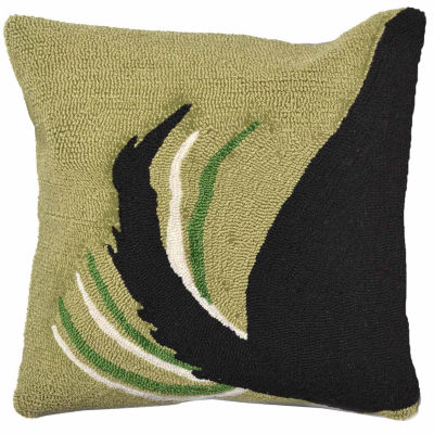 Liora Manne Frontporch Woof Square Outdoor Pillow