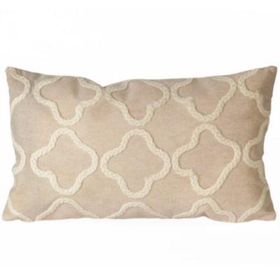 Liora Manne Visions Ii Crochet Tile Rectangular Outdoor Pillow