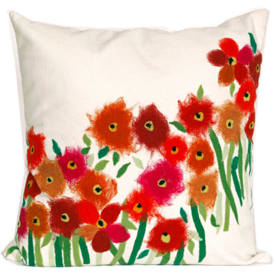Liora Manne Visions Iii Poppies Square Outdoor Pillow