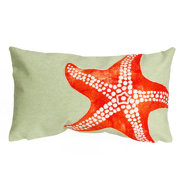 Liora Manne Visions Ii Starfish Rectangular Outdoor Pillow