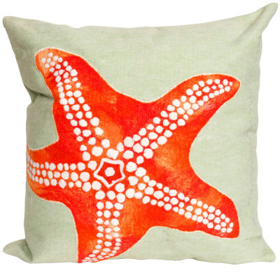 Liora Manne Visions Ii Starfish Square Outdoor Pillow