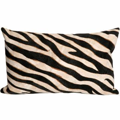 Liora Manne Visions I Zebra Rectangular Outdoor Pillow