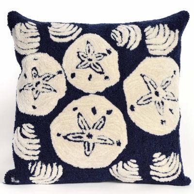 Liora Manne Frontporch Shell Toss Square Outdoor Pillow