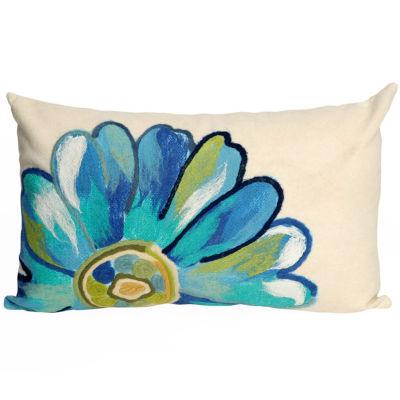 Liora Manne Visions Iii Daisy Rectangular Outdoor Pillow