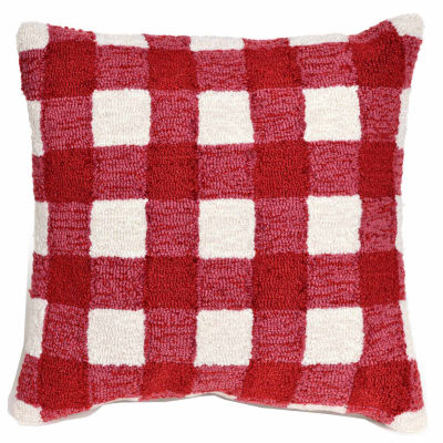 Liora Manne Frontporch Gingham Square Outdoor Pillow